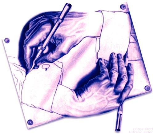 Escher ~ Manos dibujando